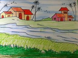 28 easy house drawing simple drawing of house beautiful landscape drawing for kids in simple steps youtube