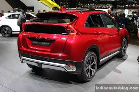 mitsubishi eclipse mitsubishi eclipse cross rear quarter at the 2017 geneva motor