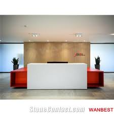 Spa Reception Desk Modern Acrylic Artificial Wood Office Hair Salon Clinic Hotel