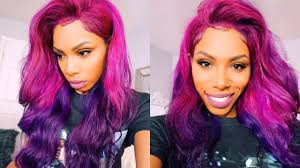 Purple Color Style Torial Pink To Purple Color Melt Unicorn Bae Hair Tutorial