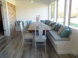 Sunroom Dining Room Ideas Custom Banquette Cushions Made With Sunbrella Fabric Customer