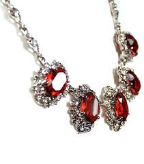 diamond necklace red images Free shipping vintage peacock tail necklace fashion jewelry in jpg
