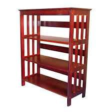 cherry finish bookcase kmart com tier living room idolza