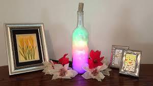 rainbow clouds led wine bottle home dorm decor design accent art
