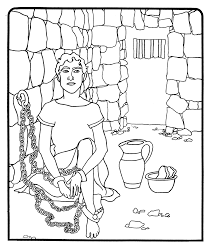 joseph in jail coloring page at best all coloring pages tips