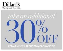 dillard s additional 30 clearance starts today for