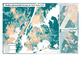 New York City On Us Map by New York City Median Income By Census Block Group 1584x1109