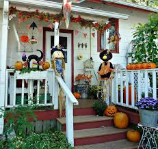How To Make Halloween Decorations At Home Cute Halloween Front Porch Decorations To Greet Your Guests