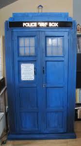 Dr Who Tardis Bookshelf A Bookcase Shaped Like A Blue Uk Police Call Box Omnium Design