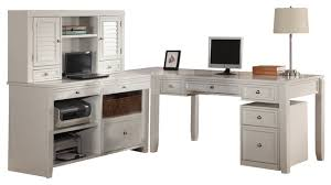 White L Shaped Desk With Hutch House Boca L Shaped Credenza With Hutch And Rolling File In