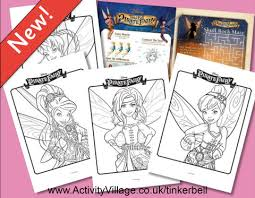 tinkerbell colouring pages tinkerbell pirate fairy