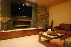 Electric Wall Mounted Fireplace Living Room With Electric Fireplace And Tv Interior Design