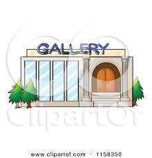 gallery clipart clipart of a gallery building facade royalty free vector