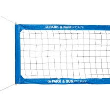 park u0026 sun pro outdoor volleyball net w steel cable