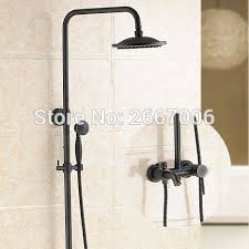 free shipping hotel bathroom shower set wall mounted copper bath