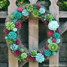 faux succulent wreath faux succulents succulent wreath and pine