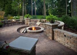 Patio Firepit Corner Outdoor Pit Seating Ideas Corner