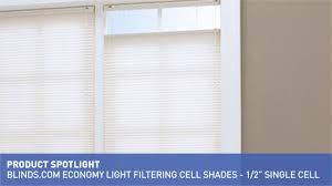 economy light filtering cellular shade 1 2 u0026 34 u0026raquo blinds