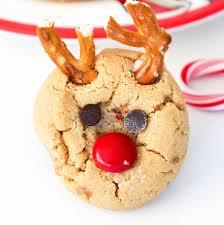 peanut butter reindeer cookies baking beauty