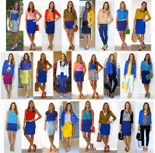 what color matches with pink and blue from my closet 25 cobalt outfit ideas babble