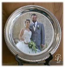 cadeau de mariage personnalis assiette métal argenté cadeau personnalisé photo logo grenoble