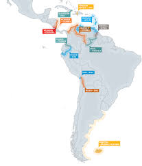 Middle And South America Map by Or Not Border Conflicts In The Americas
