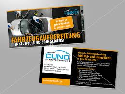 flyer design preise fahrzeugaufbereitung inkl hol und bringedienst flyer design