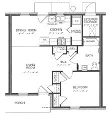 one bedroom cottage floor plans plain one bedroom cottage floor