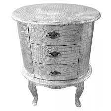 moc croc silver shabby chic bedside cabinet shabby chic free