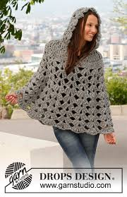 drops design poncho raffinement drops 140 44 free crochet patterns by drops design