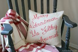 funny christmas movie quote pillow
