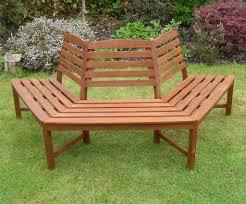 henley half round tree seat hardwood garden bench 1 2 price sale
