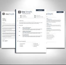 business management resume professional cv template