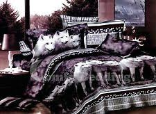 Wolf Bed Sets Wolves 3pc Bedding Set 1 Duvet Cover And 2 Pillow Shams