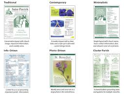 bulletin design trends how to find your style u2014 liturgical