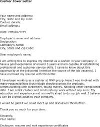 Resume For Cashier Job by Cashier Cover Letter Jvwithmenow Com