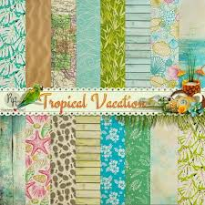 9 best tropical vacation scrapbook kit images on