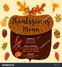 thanksgiving menu invitation design thanksgiving dinner stock