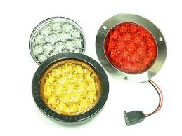 4 inch round led lights a l lightech 4 inch round stt led truck lights with clear lenses