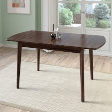 corliving dillon cappuccino stained wood extendable oblong dining