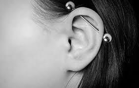 bar earring cartilage industrial barbells scaffold piercing jewellery ear cartilage