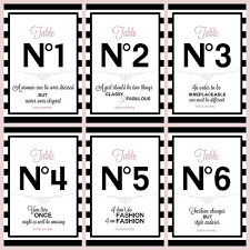 wedding party quotes table numbers 1 6 with chanel quotes digital printable