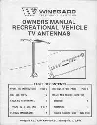 1983 fleetwood pace arrow owners manuals winegard rv tv antenna