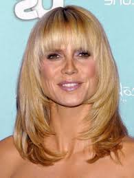 pictures of medium length haircut with bangs medium length