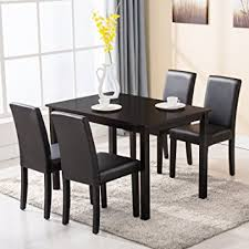 Dining Room Chairs Set Of 4 4 Family 5 Dining Table Set 4 Chairs Wood
