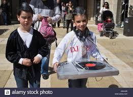 esther purim costume a boy wears a dj costume on purim celebrated as a happy