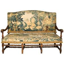 Antique Hall Bench 19thc English Oak Hall Bench Settee With Antique Tapestry At 1stdibs