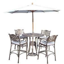 Patio Bar Height Tables Bar Height Umbrella The Home Depot