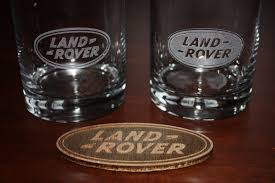 land rover wooden fractal coffee glass