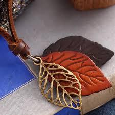 leather leaf necklace images Necklaces ob la di bazaar jpg